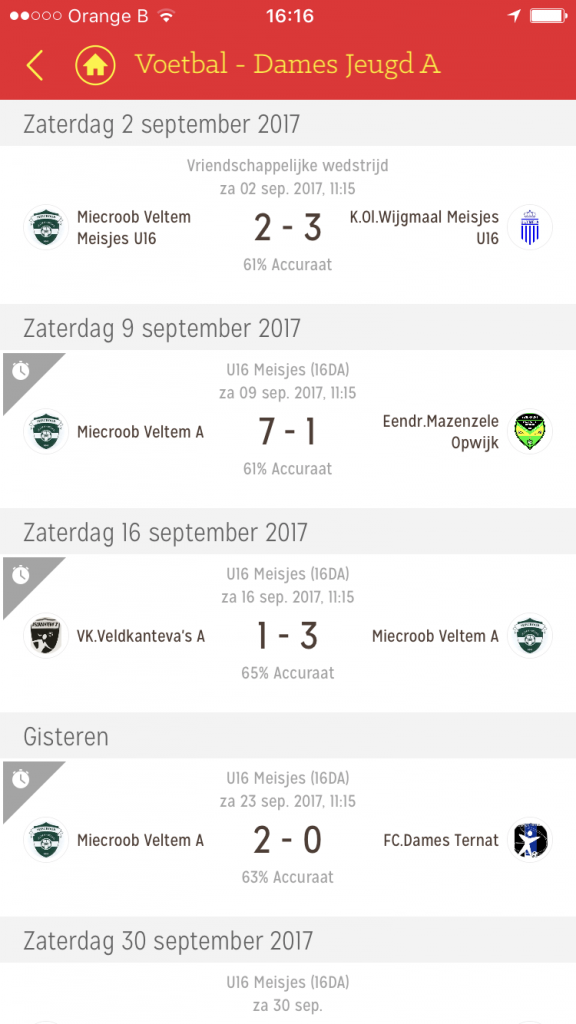 (Best of Belgian Football app)